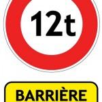 Barrières de dégel - Limitation de tonnage aux vehicues de plus de 12 tonnes