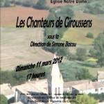 Salvagnac : La chorale de Giroussens en concert