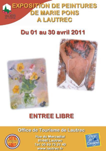 Lautrec marie pons exposition de peintures dans ton tarn - Office de tourisme de pons ...