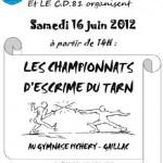 Gaillac : Championnat départemental d'escrime