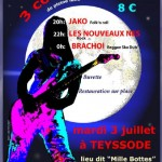 Teyssode : 3 concerts folk'n roll, rock, dub ska