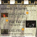 Puycelci : Concerts : The Fakir / Nino Korta / Axeliito