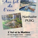 Castres : Expo Peinture Nathalie Puig Au fil de l'eau