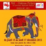 Gaillac : Exposition d'Art Indien, Toiles Brodées