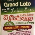 Lisle-sur-Tarn : Loto des Arpents Verts
