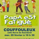 Couffouleux : Papa est fatigué, spectacle pour enfants avec Olivier et Pompon