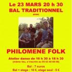 Couffouleux : Bal traditionnel avec Philomène Folk