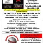 Saint Sulpice : Pétanque, finale du Championnat du Tarn en Doublette Mixte