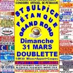 Saint Sulpice : Concours officiel en doublettes au boulodrome