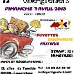 Lagarrigue : 17ème vide-greniers de Lagarrigue