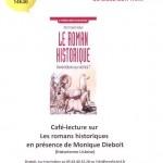 Lisle-sur-Tarn : Café littéraire spécial Romans historiques avec Monique Diebolt