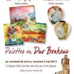 Lescure d'Albigeois : Palettes en Duo Bonheur, exposition de Corline DeGroiselle et Jacques Czerwiec