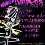 Puylaurens : Soirée karaoké au Strapagoule