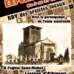 Lescure-d'Albigeois : RDV des artistes locaux, exposition à l'Eglise Saint-Michel