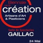Gaillac : Biennale de la Création, artisans d'art et plasticiens à la salle de Spectacles