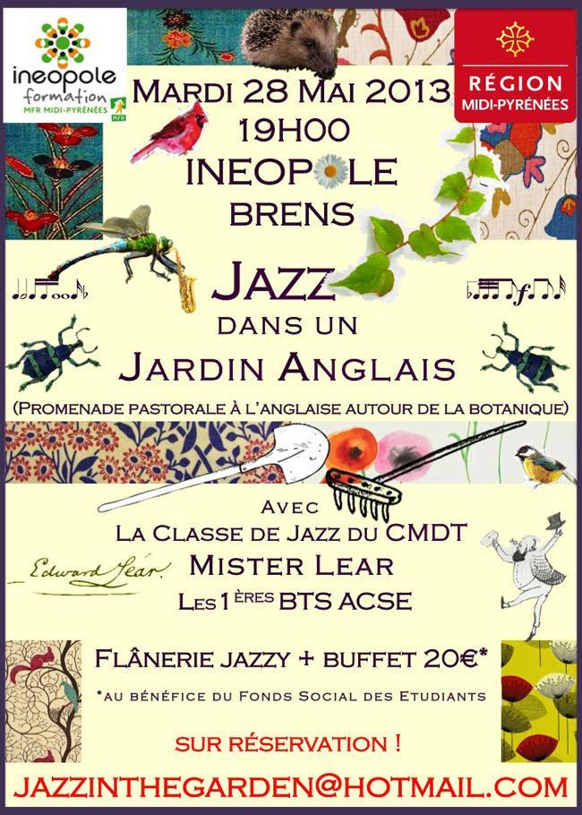 Brens jazz dans un jardin anglais ineopole dans ton tarn for Brocante jardin anglais
