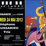 Castres : Stéphane Caussarieu Trio, Jazz Session à l'Hôtel Renaissance