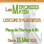 Lescure-d'Albigeois : Un nouveau marcher Place de l'Horloge