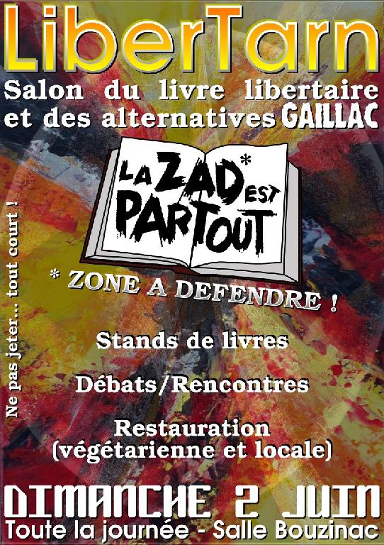 Gaillac libertarn 2013 salon du livre libertaire la for Salon du livre politique