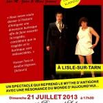 Lisle-sur-Tarn : Antigone Couic Kapout, théâtre au Musée Raymond Lafage