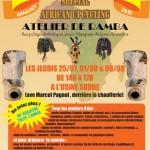 Graulhet : Atelier de «ramba» (Recyclage Artistique pour Masques-Bidons Africains)