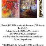 Lescure-d'Albigeois : Exposition d'Isabelle Buisson et d'Eric Dronsart