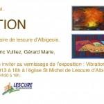 Lescure-d'Albigeois : Exposition Vibrations et Couleurs