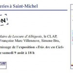 Exposition Trio Arc en Ciel (c) CLAP : Culture Lescure Animation Passion