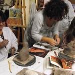 Montdragon Portes ouvertes à l'atelier (c) Association Art'monie et Couleurs