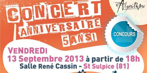 Gagnez des places pour le concert anniversaire d'Algprithme à Saint-Sulpice - Concours DTT