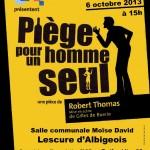 Lescure-d'Albigeois : Piege pour un homme seul, théâtre à la salle communale