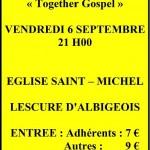 Lescure-d'Albigeois : Soirée concert Gospel