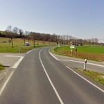 Carrefour de la D999 et de la D12 / © Google Street View
