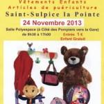 Saint Sulpice : Bourse aux jouets avec Saint Sulpice les 3 clochers