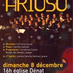 Dénat : L'ensemble vocal Arioso chante Noël