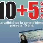 Législation : A partir du 1er janvier 2014, allongement de la durée de validité de la carte nationale d'identité à 15 ans