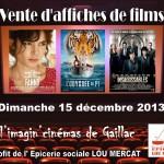 Gaillac : Vente d'affiches de films à l'Imagin'Cinémas