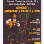 Castres : Concert hommage a Paco de Lucia