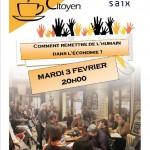 Saix : «Comment remettre de l'humain dans l'économie ?», café citoyen à la MJC
