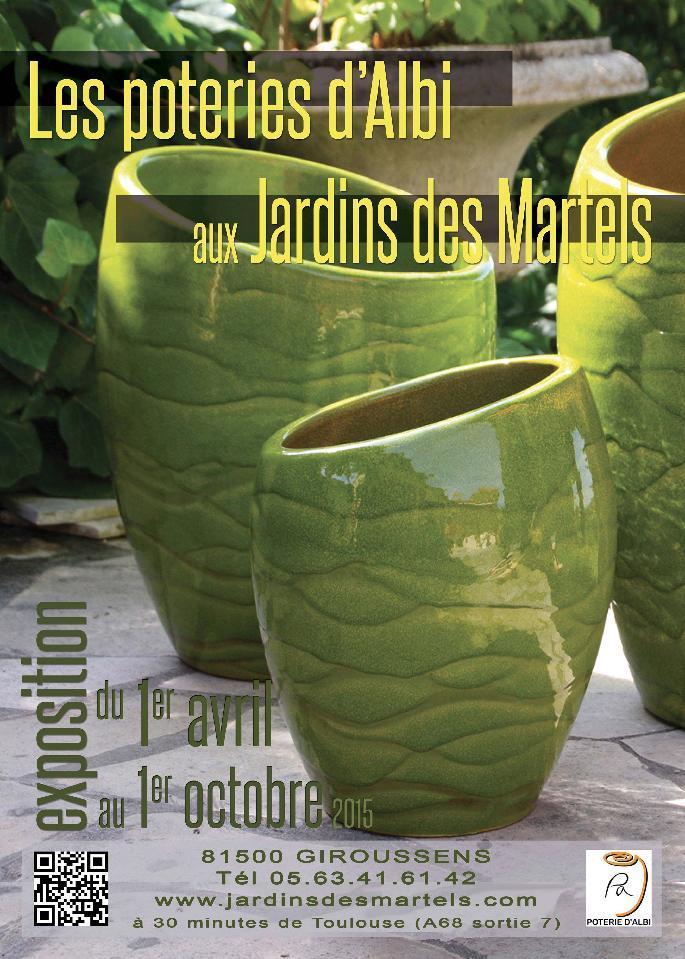 giroussens les poteries d albi dans les jardins exposition au jardin des martels dans ton tarn. Black Bedroom Furniture Sets. Home Design Ideas
