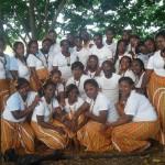 Sainte-Croix : Concert chorales sur la place du village
