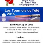 Saint-Paul-Cap-de-Joux : Tournoi de tennis de table