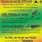 Rabastens : Cours de Danse Africaine  Ado / Adultes