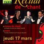 Labruguière : Récital de chant au Centre culturel Le Rond-Point
