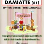 Damiatte : Vide-grenier foire artisanale