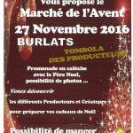 Burlats : L'Art et la Matière et marché de l'Avent
