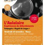 Vaour : L'Aululaire, spectacle de la compagnie Ragoût de Langue au Théâtre de la Commanderie
