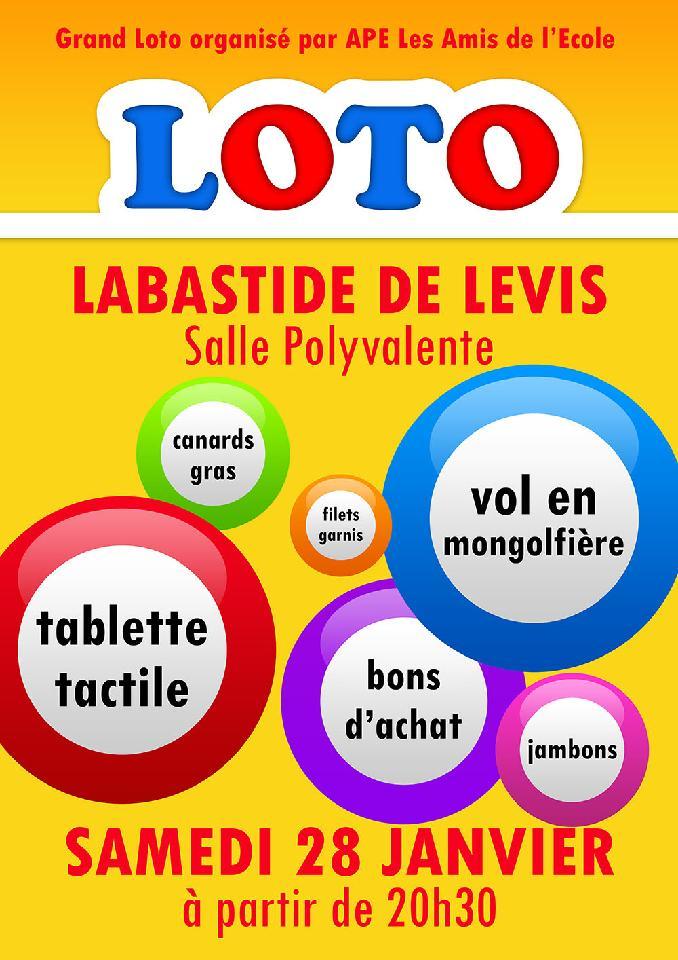 Labastide de l vis loto de l cole la salle for Loto dans 01