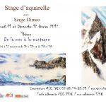 Saix : De la mer à la montagne, stage aquarelle  à la MJC