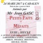 Cadalen : Justice et faits divers dans le Gaillacois et le Cadalénois entre 1700 et 1850, conférence animée par Jean Gasc